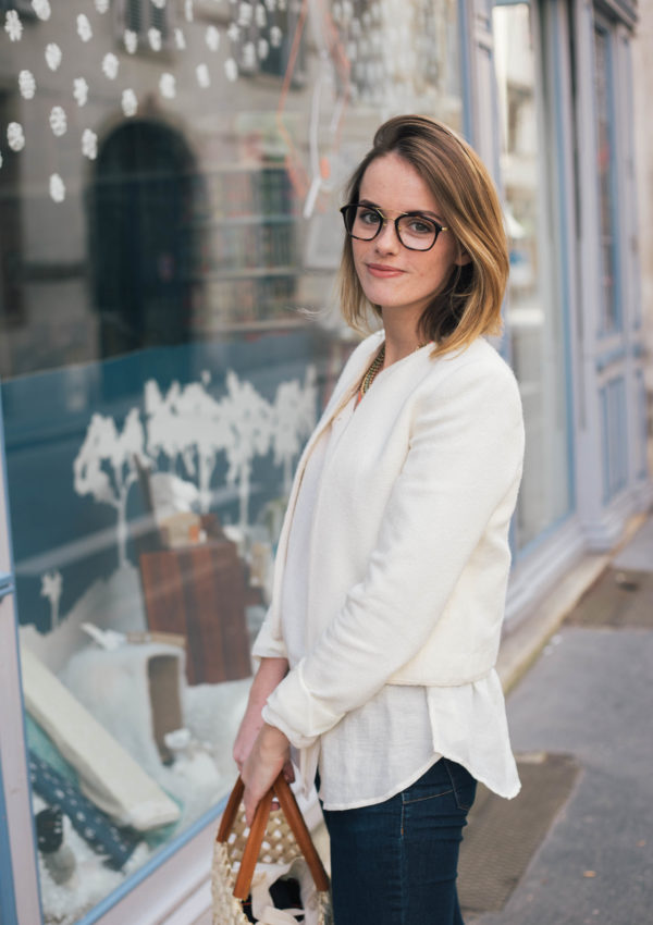Beige Outfit And A Straw Bag