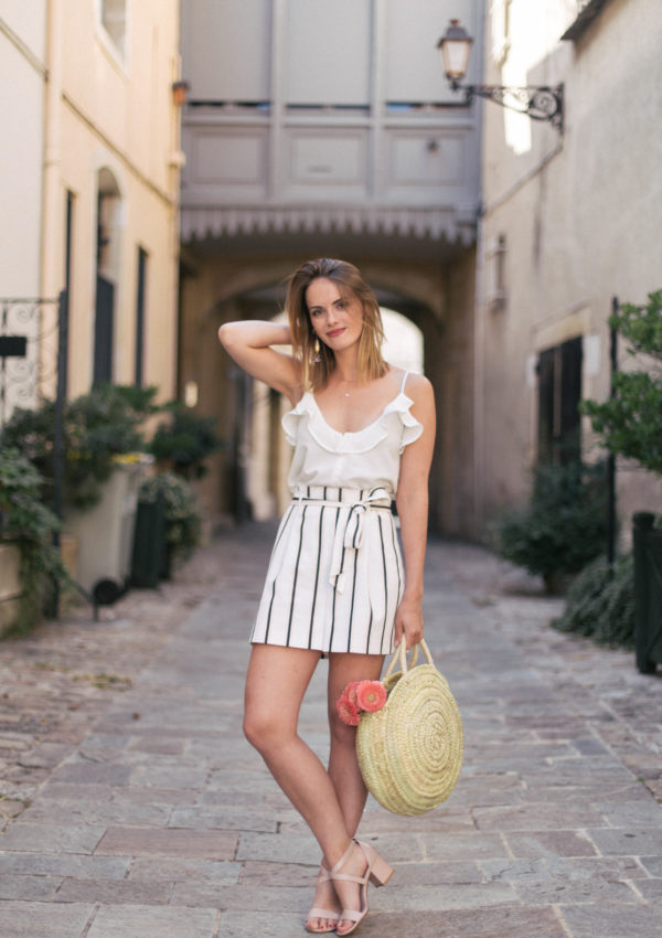Summer Essentials: Nude Sandals & Round Basket Bag