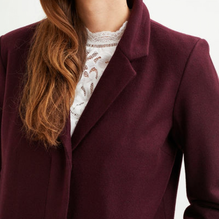 Burgundy Coat For Fall