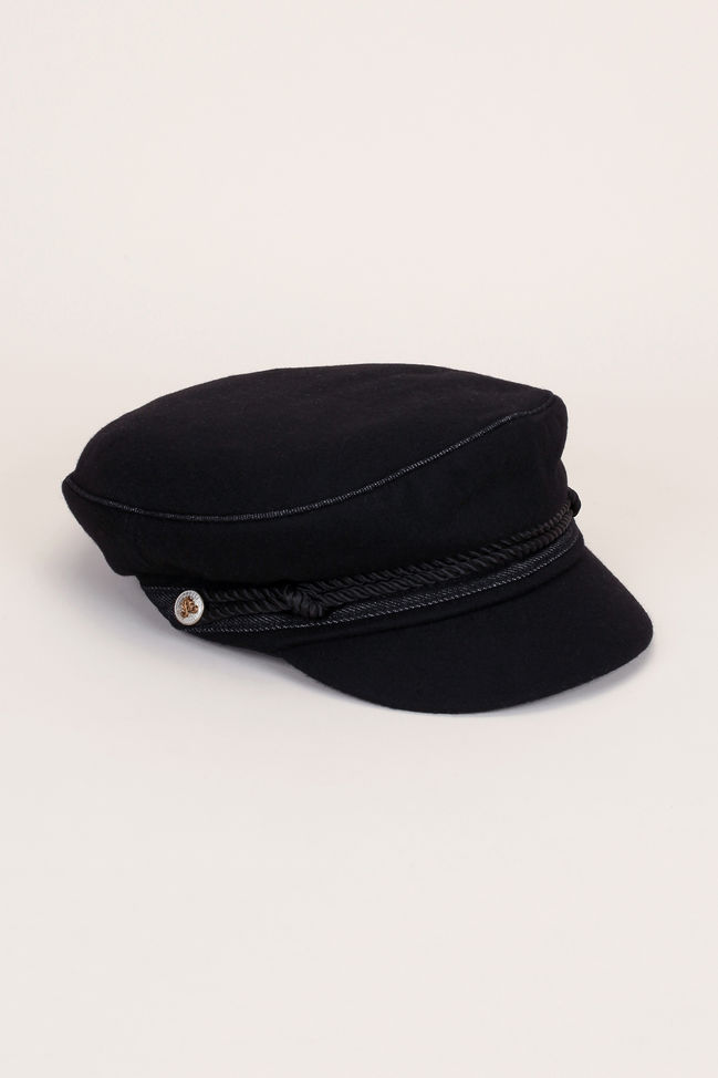 Fisherman's cap black