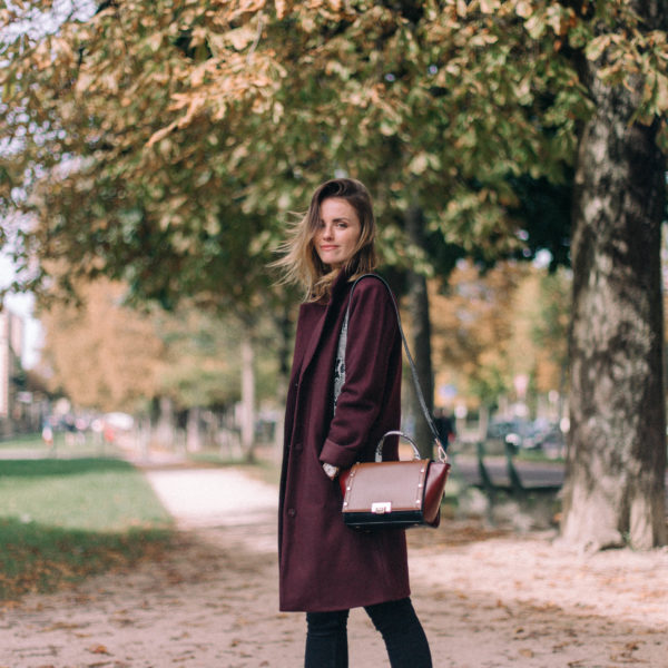 A Burgundy Coat For Fall