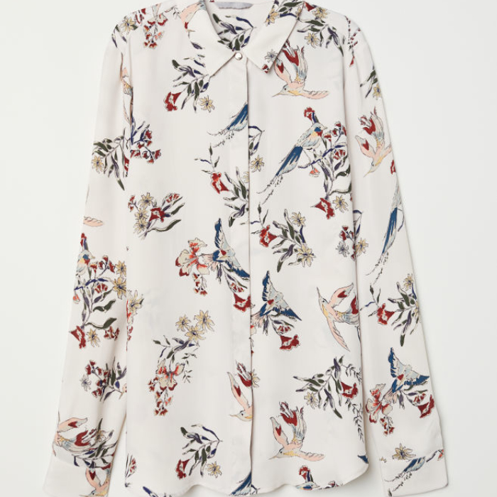 Floral Blouse h&m birds