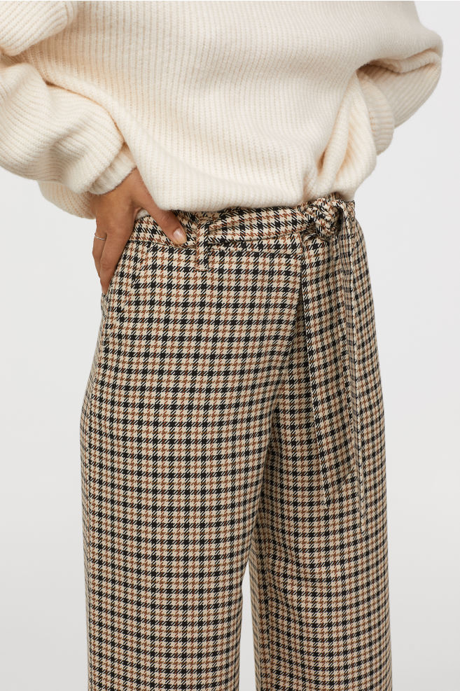Pantalon à carreaux H&M