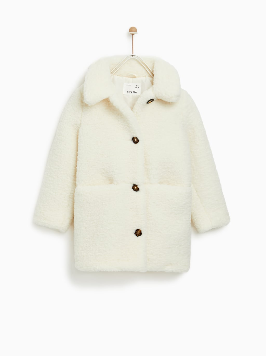 Teddy Coat Blanc Zara Kids