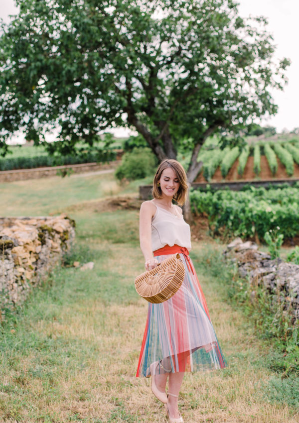A Colorful Summer Outfit In Meursault, Burgundy