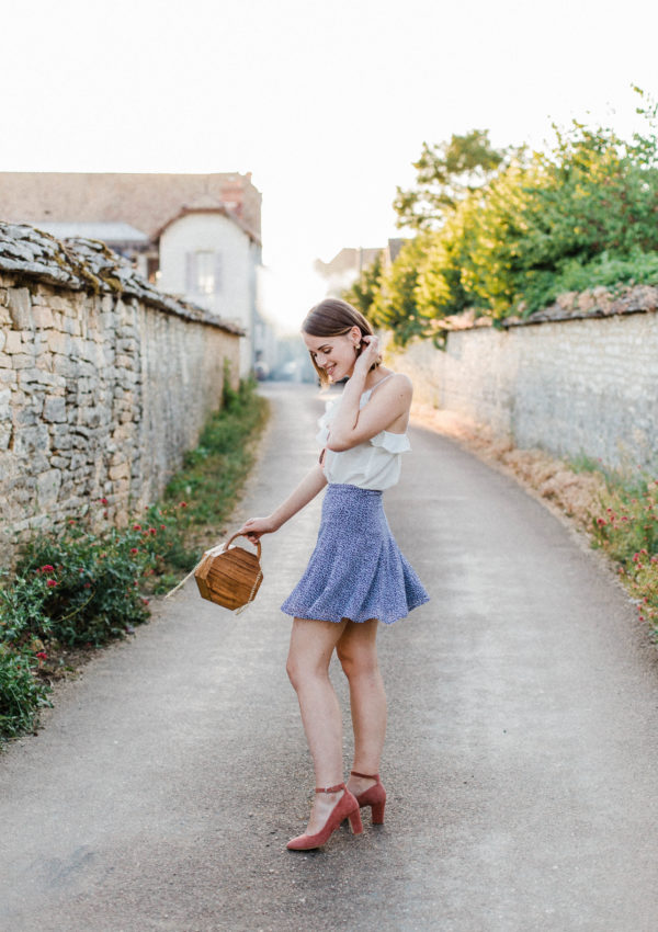 A Twirling Skirt For An Evening Walk In Pommard