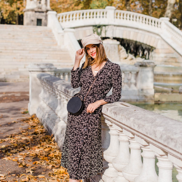 A Floral Midi Dress For Fall