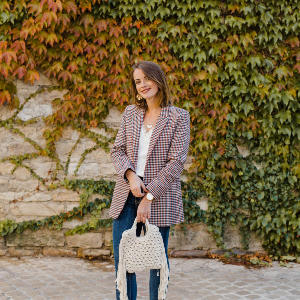 The Perfect Houndstooth Blazer For Fall