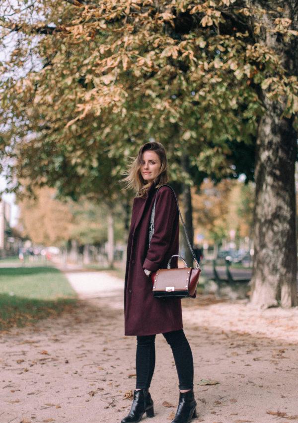 A Burgundy Coat For Fall