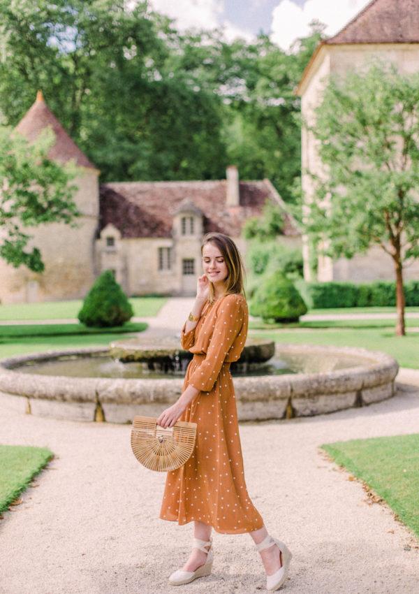 Sézane Julia Dress – Fontenay Abbey, Burgundy
